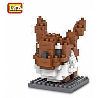 LOZ 130Pcs M-9141 Pokemon Eevee строительный блок развивающая игрушка для сотрудничества Как на изображении