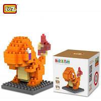 LOZ 110шт. M-9142 Покемон Чармандер кубики строительный блок обучающая игрушка для способностей к сотрудничеству Как на изображении
