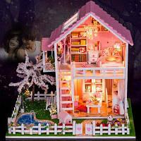Мини DIY Стиль Кукла дом художественного ремесла игрушка Цветной