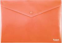 Папка-конверт на кнопке, А4, непрозрачная Красный