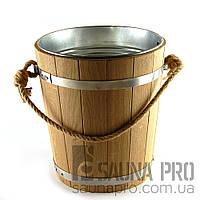 Ведро дубовое с металлической вставкой, 10 л, Saunapro