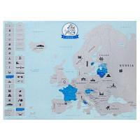 Большая Карта Европы, двойной слой для стирания-21,6 х 17 дюймов Цветной
