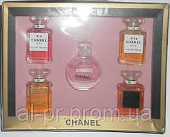 Подарочный набор парфюмерии Chanel 5 в 1