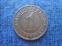 Монета 1 пфенниг Германия 1934 Е