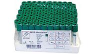 Пробирки с гепарином лития BD Vacutainer для плазмы с зеленой крышкой 4 мл 13x75мм упаковка 100 шт.