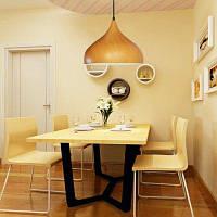 Алюминиевый широкий подвесной светильник с текстурой древесины Широкий