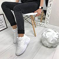 Женские высокие демисезонные кроссовки белые 2911