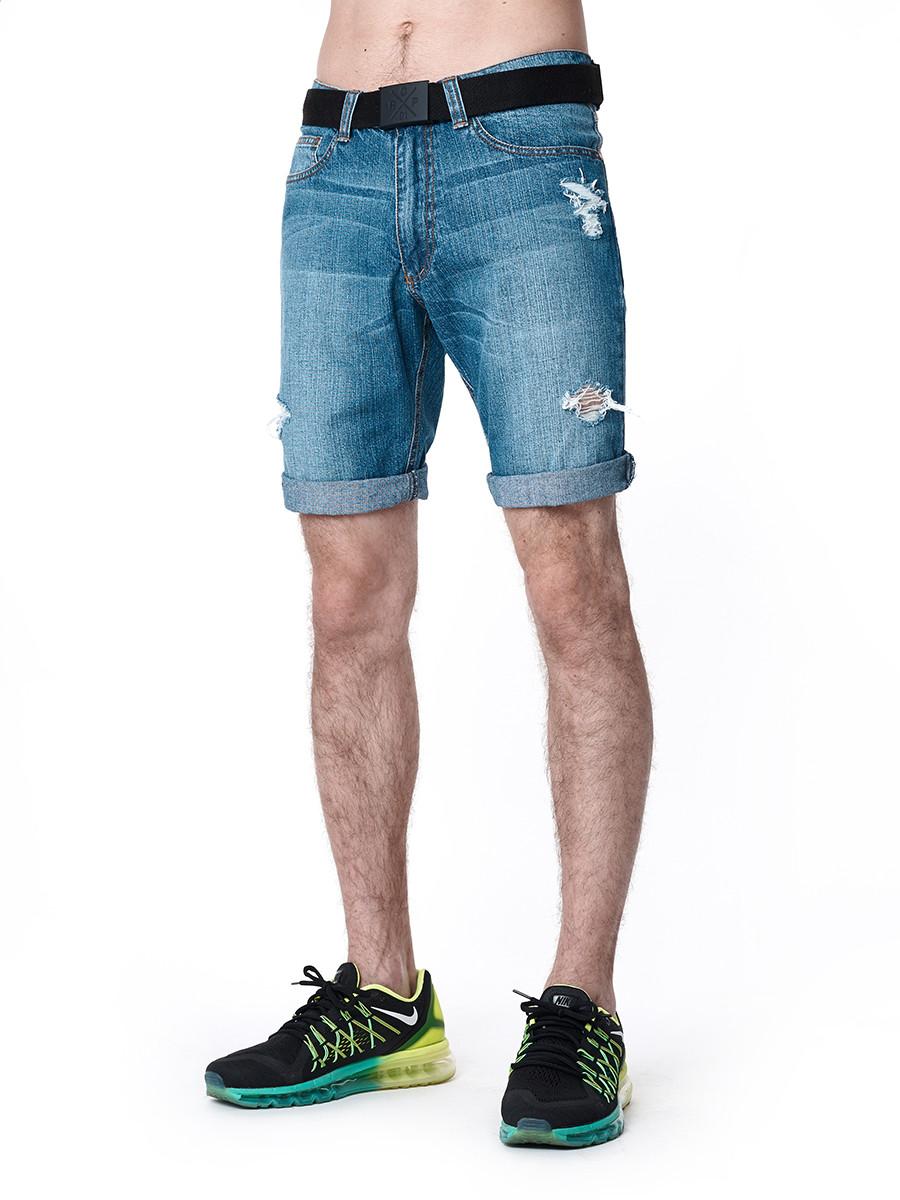 774726afe48e2f Мужские шорты джинсовые DENIM RIPPED Urban Planet (джинсовые шорты, шорти  чоловічі, летняя одежда