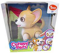 Детская интерактивная игрушка собачка CUTESY PETS - ДЖИМ, 15 см, гавкает, ходит, арт. 88532