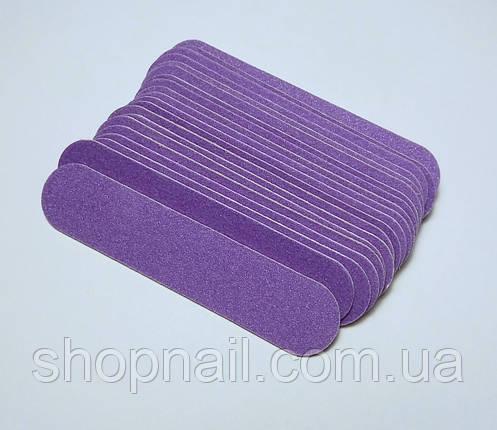 Одноразовая пилочка, фиолетовая 180/240 гритт, 100 шт\уп, фото 2