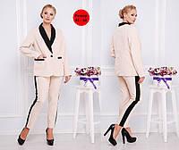 Женский брючный костюм в больших размерах с пиджаком  2025456