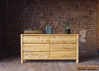 Комод деревянный W-7, ясень или дуб, (Ш1600*В820*Г450)