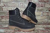 Мужские зимние утепленные высокие кожаные ботинки (берцы) Timberland Тимберленд