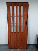 Дверь раздвижная полуостекленные  266 ольха красная 860х2030х12мм