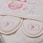 "Махровый набор для ребенка ""Водолаз"" розового цвета, фото 2"