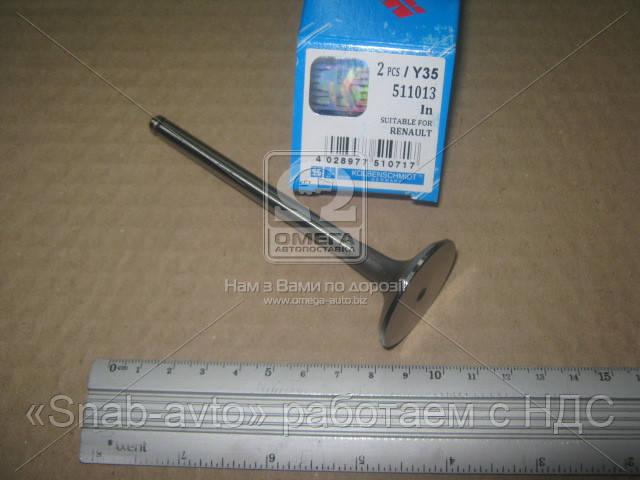 Клапан впускной RENAULT 1,9dCi F9Q 35.3x7x110.9 (производство KS) (арт. 511013), AAHZX
