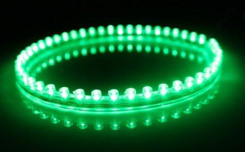 Подсветка диодная PVC силикон 120см зеленая.
