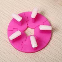 Съемная рама для обучения с 5шт накладными ногтями Розовый