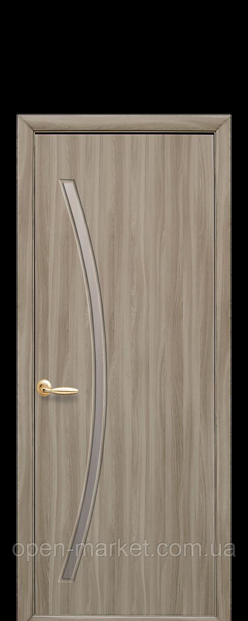 Дверное полотно Дива со стеклом сатин сандал