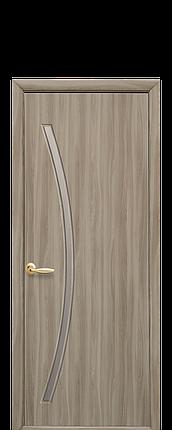 Дверное полотно Дива со стеклом сатин сандал, фото 2