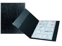 Визитница  на кольцах А4, настольная 2504, на 200 визиток, материал Xepter
