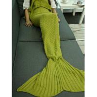 Супер мягкий плед Вязаный спальный мешок Mermaid TAID Одеяло Бирюзовый