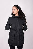 Куртка парка женская зимняя W6 BLK Urban Planet черная (женская куртка, парка женская, куртка жіноча, парки)