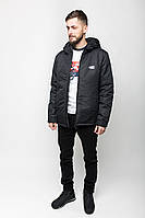 Куртка мужская зимняя A4 BLK Urban Planet черная (мужская куртка, парка мужская, куртка чоловіча, парки)