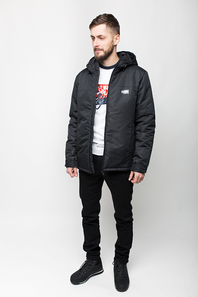 Куртка мужская зимняя A4 BLK Urban Planet черная (мужская куртка, парк