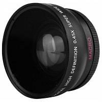 Высокой четкости 0.45 x 55 мм широкий угол макро объектив камеры 15565
