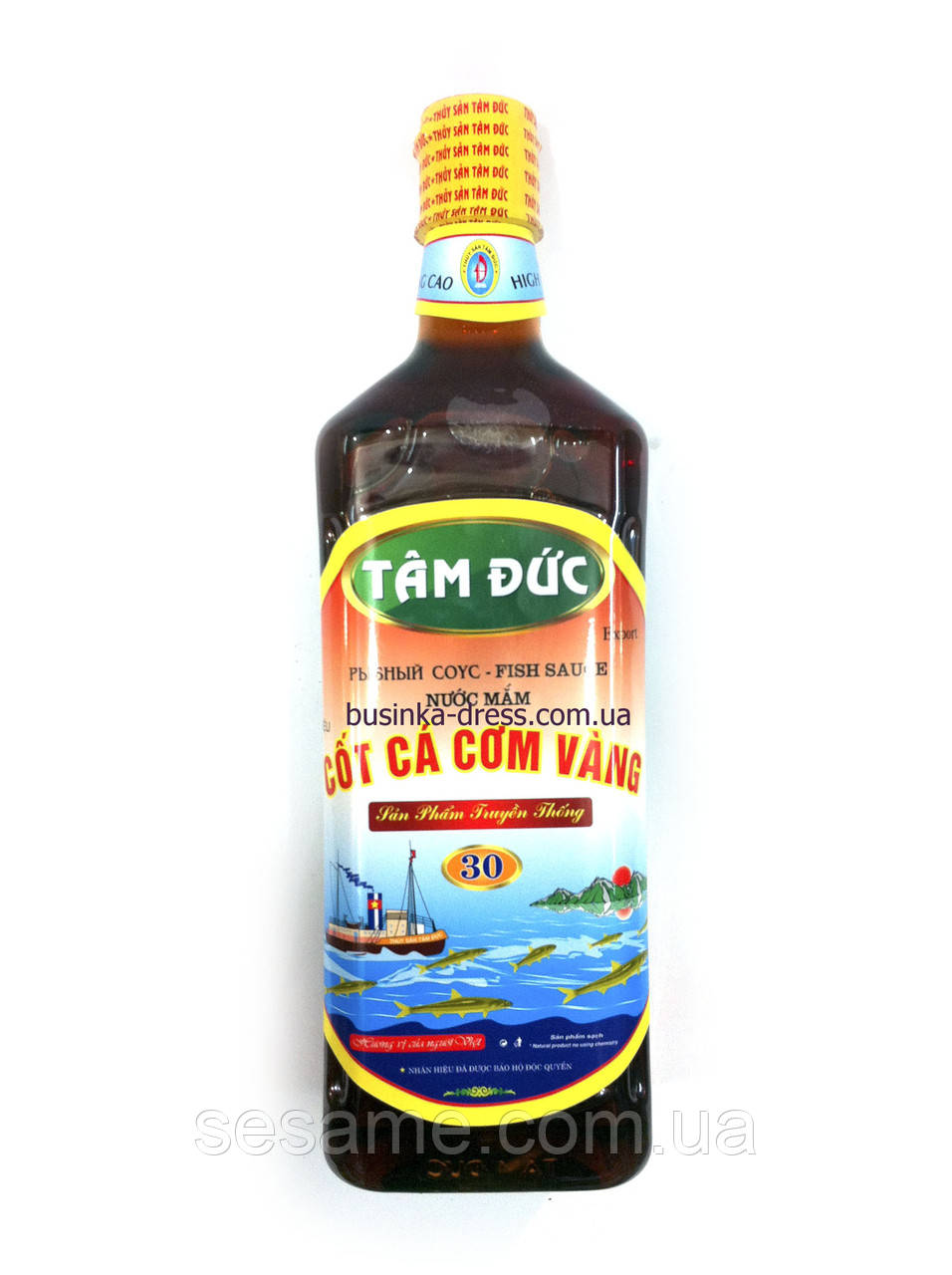 Рыбный соус Fish Sause NUOC MAM TAM DUC 30°,  900 ML. (Вьетнам)