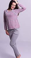 Теплая пижама с начесом женская зимняя хлопковая комплект домашний кофта и штаны для кормящих