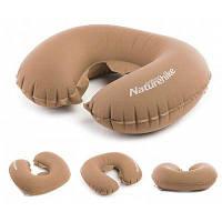 Naturehike сверхлегкий U-образный надувается подушка для шеи портативный Коричневый