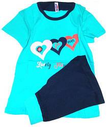 Пижама люкс Турция футболка и капри с манжетами XL ( наш размер 48)