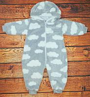 Комбинезон детский махровый с подкладкой, на рост 74, 80 см