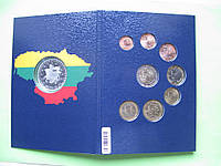 Литва, набор евро монет 2015 г , UNC. + серебряный жетон