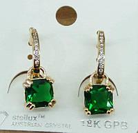 208 Элитная позолоченная бижутерия, серьги позолота с кристаллами