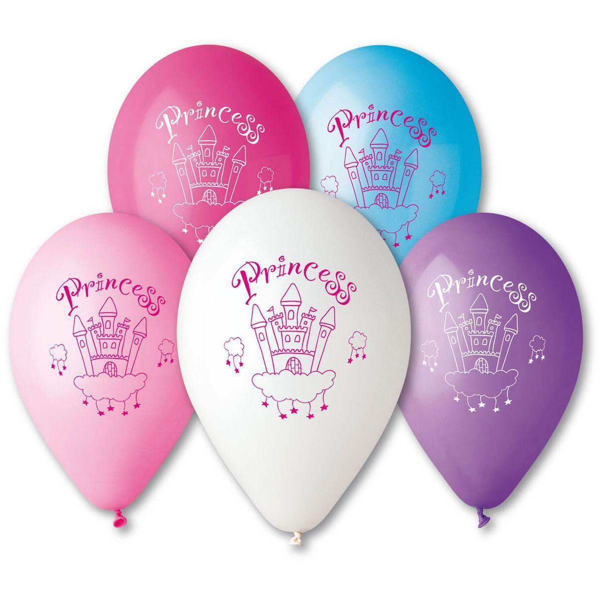 Шарик Princess фиолетовый и голубой 30см