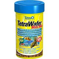 Корм TETRA (Тетра) Wafer Mini Mix для всех донных рыб и ракообразных, 100 мл