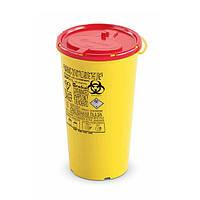 Одноразовый круглый контейнер для утилизации DISPO желто-красный 1 л APMED-DISPO-1