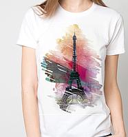 Футболки женские, Париж, эйфелева башня