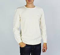 Белый свитер мужской, джемпер POOLL
