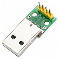 Переходник с USB на разъем 4-пин DIP 2.54мм Зелёный