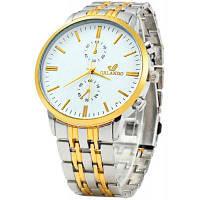 Орландо Z400 Золотой Чехол Кварцевые часы для мужчин Белый