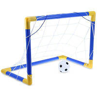Мини-футбол Футбол гол сообщение чистая комплект с насосом Синий и жёлтый