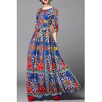 Красочные Геометрическая Печатный платье XL