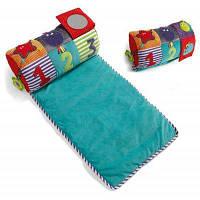 Цветной и мягкий музыкальный развивающий коврик с валиком для вашего малыша Цветной