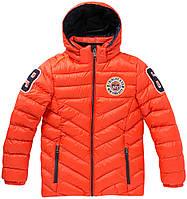 Зимняя куртка для мальчика 152, 164, 176 TwinLife оранж