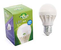 Светодиодная лампа Led или лед лампочка, купить энергосберегающию диодную лампу QGT 5W 6000K 220V E27 (778)