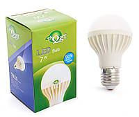 Светодиодная лампа Led или лед лампочка, купить энергосберегающию диодную лампу QGT 7W 6000K 220V E27 (779)